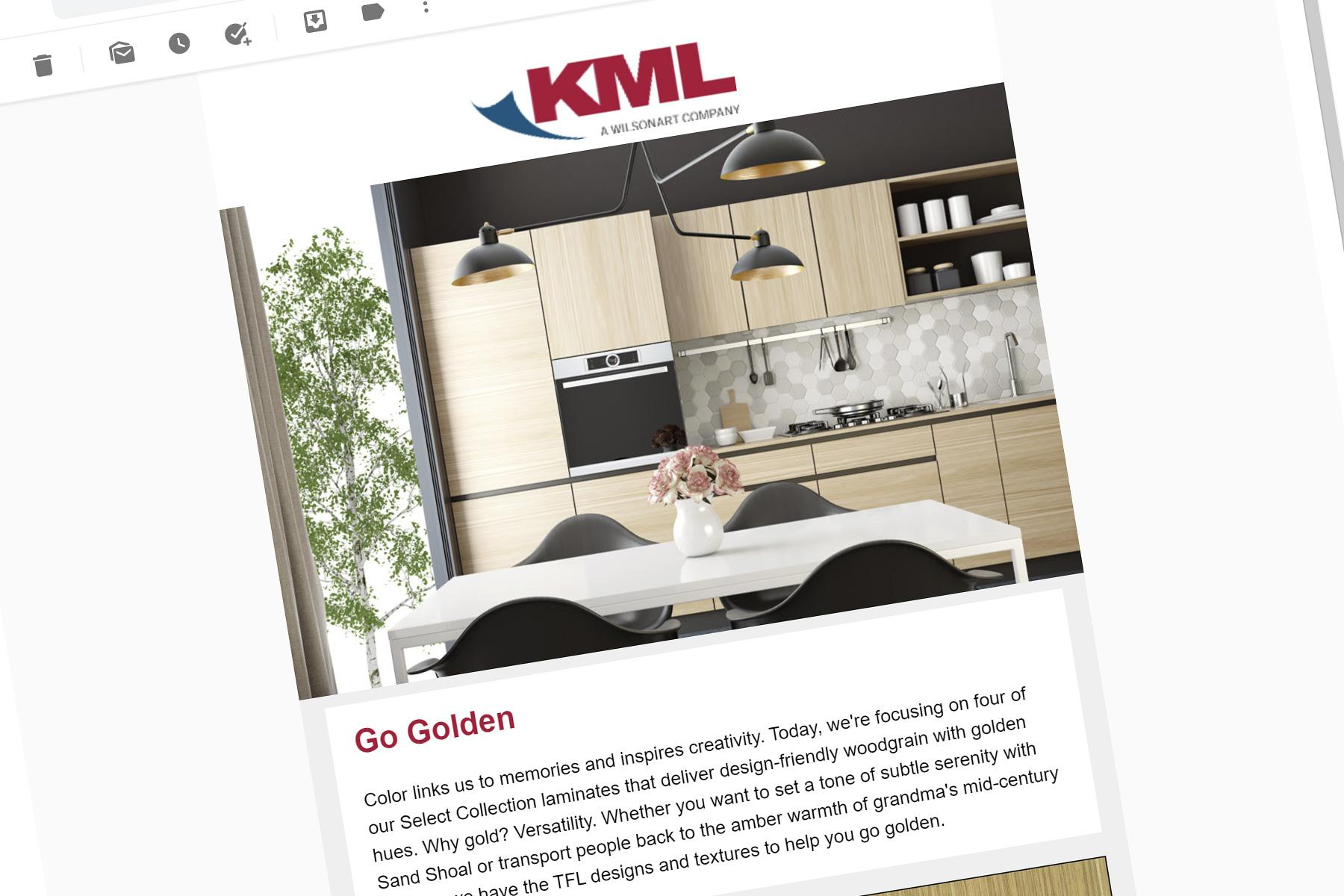 KML Designer Finishes email marketing template