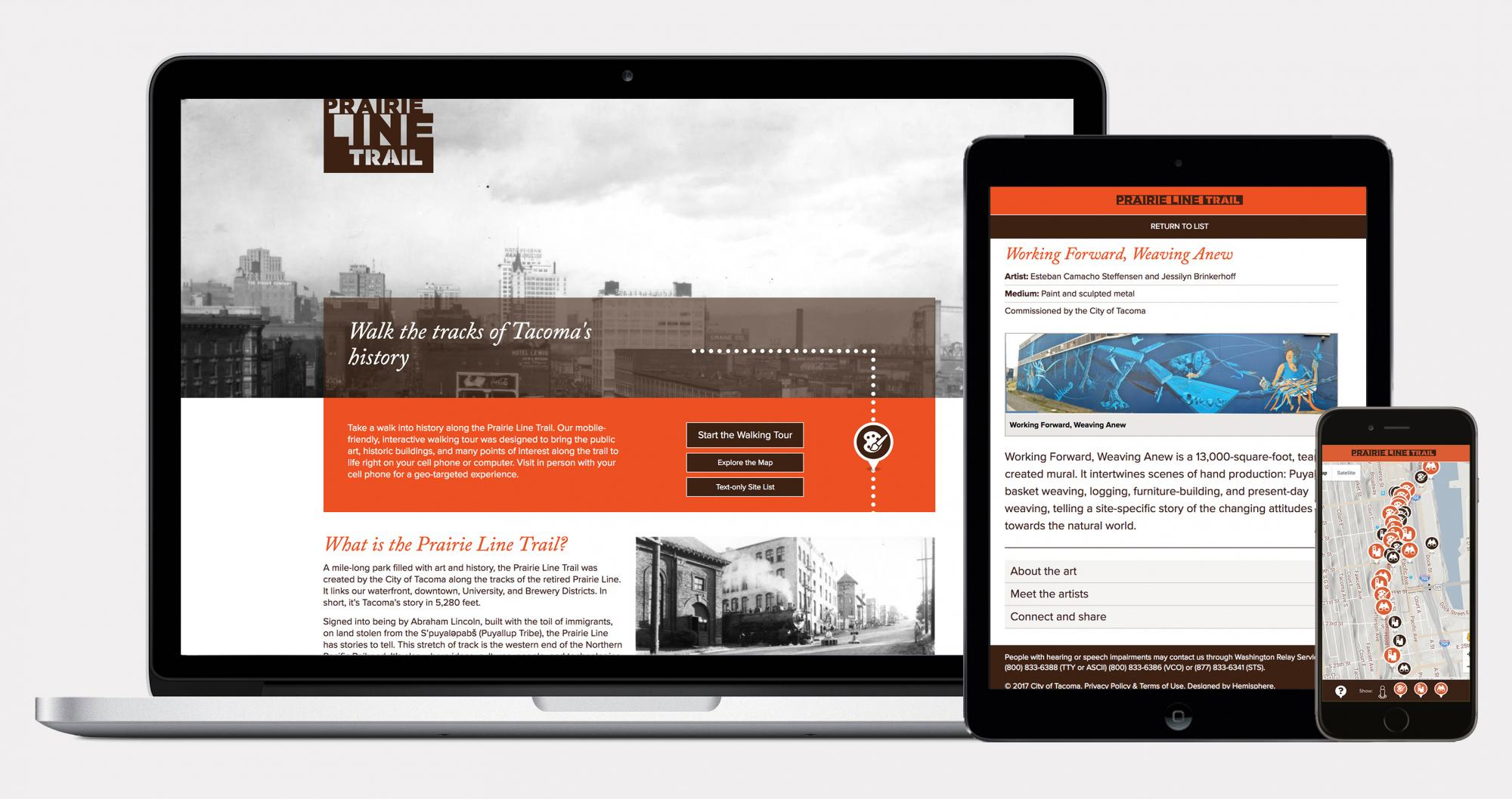 Prairie Line Trail website homepage