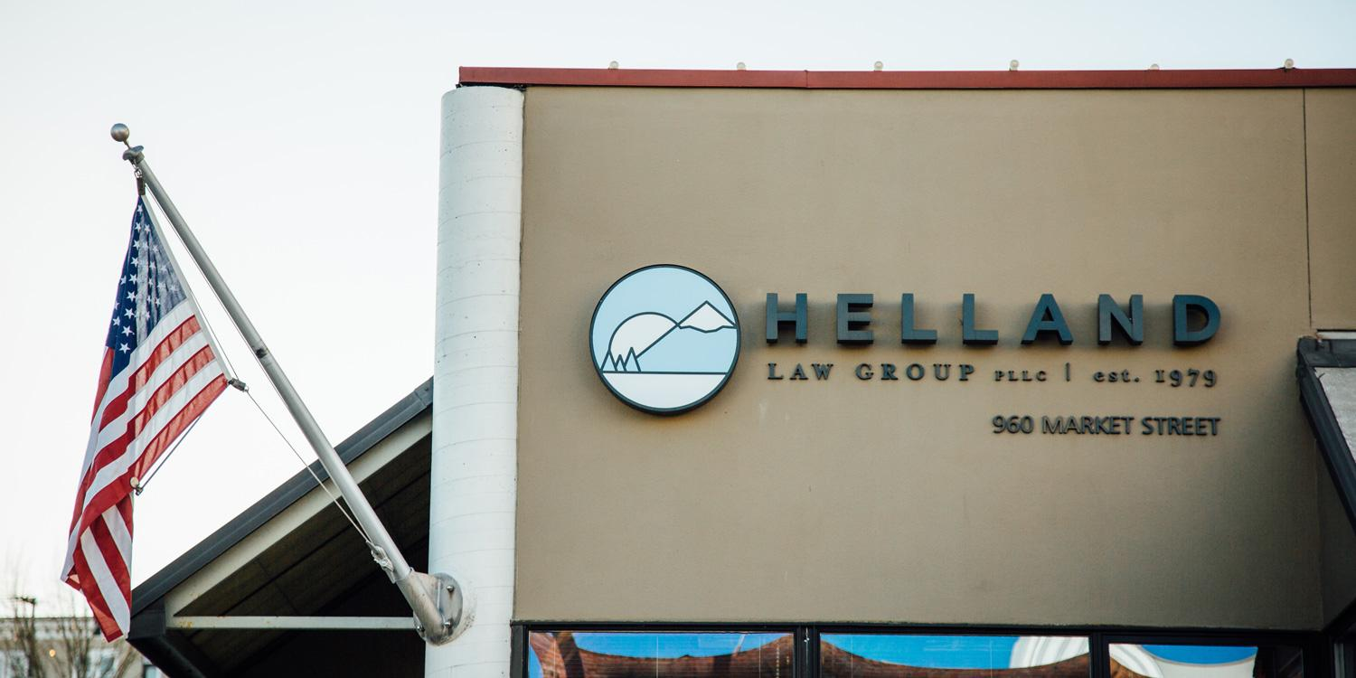 Helland Law Group sign