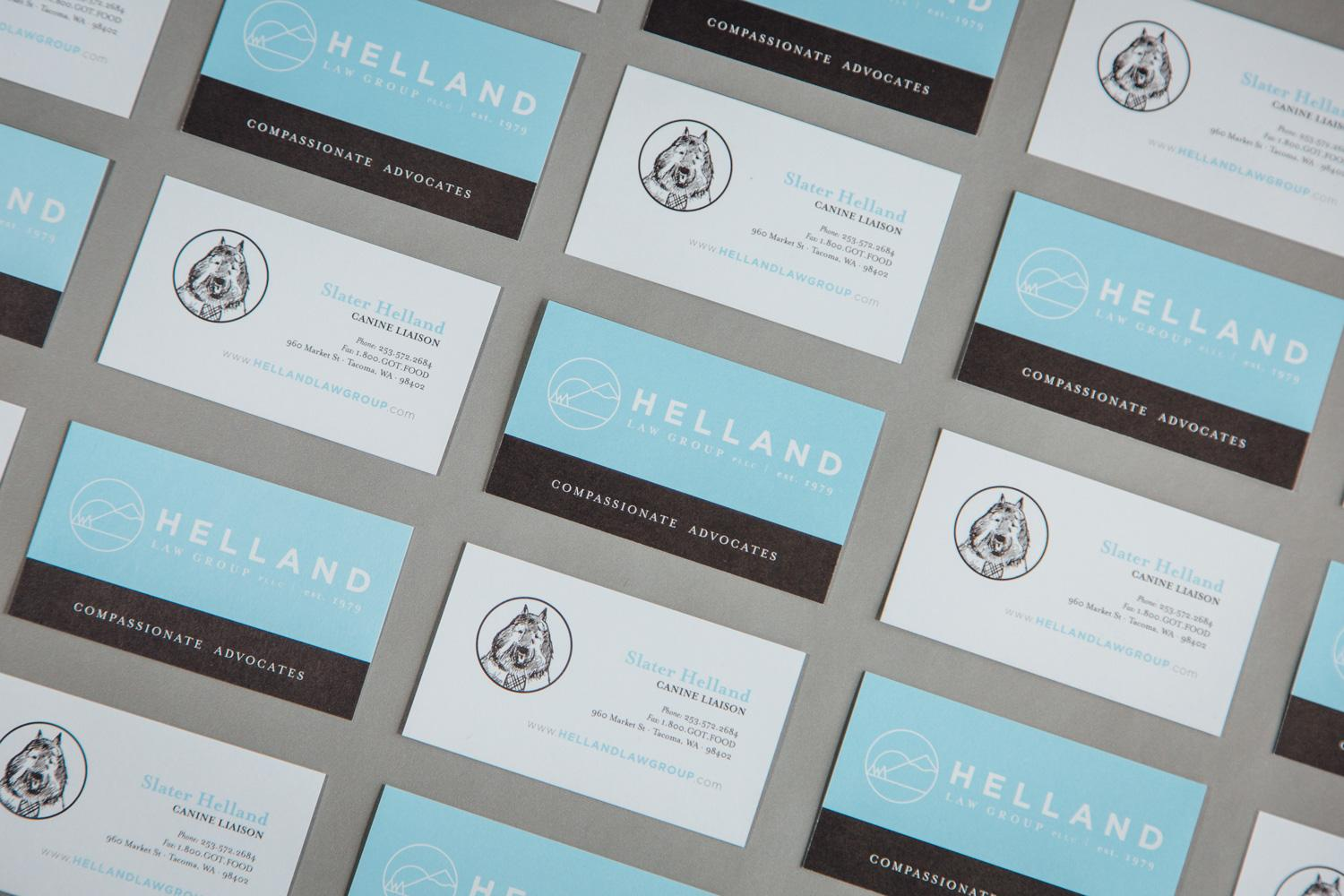 Helland Business cards