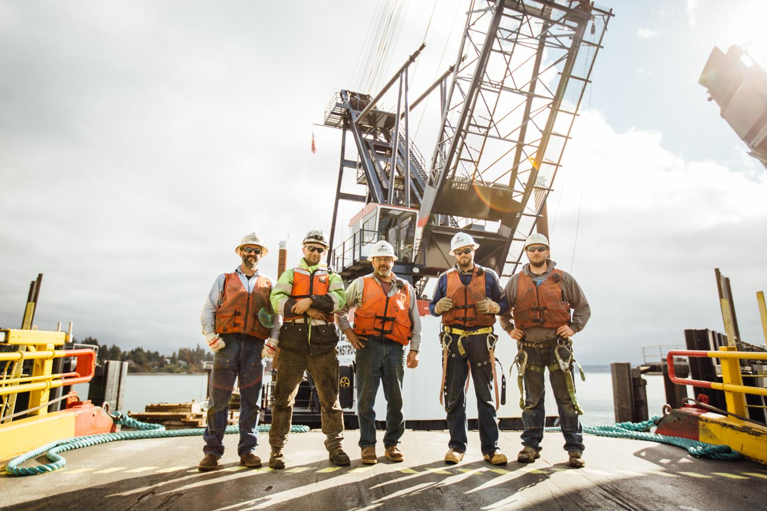 Group photo of American Construction employees